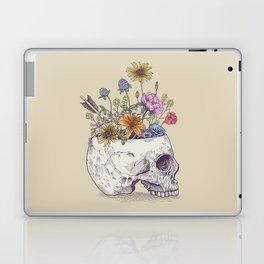 Half Skull Flowers Laptop & iPad Skin