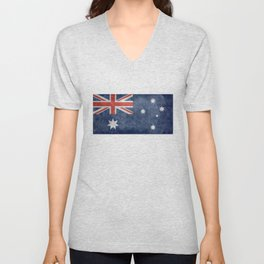 The National flag of Australia, Vintage version Unisex V-Neck