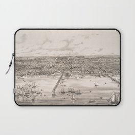 Vintage Pictorial Map of Buenos Aires Argentina (1850) Laptop Sleeve
