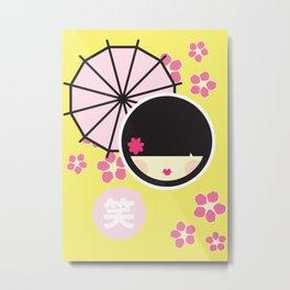 KOKESHI Metal Print