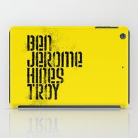 caleb troy iPad Cases featuring Ben Jerome Hines Troy / Gold by Brian Walker