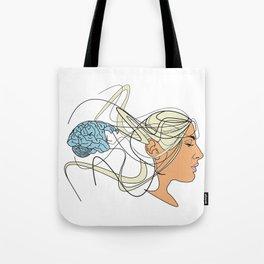 Brain Seperation Tote Bag
