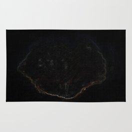 Psychedelic Black Tree of Life Rug