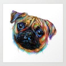 Pug-a-tron Art Print