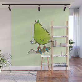 The Pear Skater Wall Mural