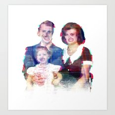 We're a Happy Family Art Print