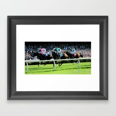 Trifecta- Day at the Downs Framed Art Print