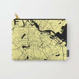 Amsterdam Yellow on Black Street Map Carry-All Pouch