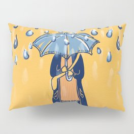 Rainy day girl Pillow Sham