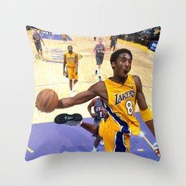 K.B Dunk , Kobe#Bryant Dunk Poster, K.B King of Basketball Throw Pillow