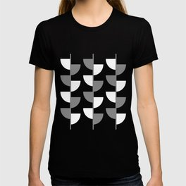 Climbing High - Grey and White on Black - Slices series T-shirt
