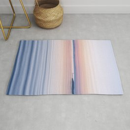 Pastel ripples sea and sky Rug