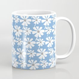 Daisies In The Summer Breeze - Blue Grey White Coffee Mug