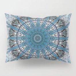 Powder Blue Mandala Design Pillow Sham
