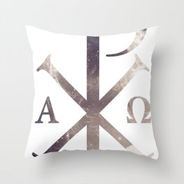 Chi Rho Throw Pillow