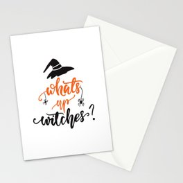 What's up, witches? Lettering design Stationery Cards