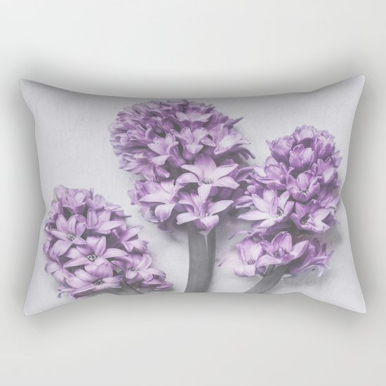 Three Light Purple Hyacinths Rectangular Pillow