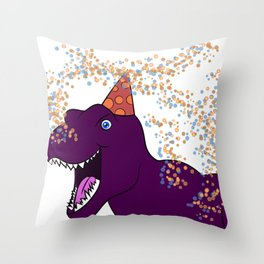 Birthday Dinosaur Throw Pillow
