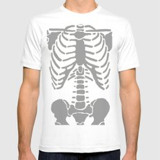 Skeleton Mens Fitted Tee White SMALL