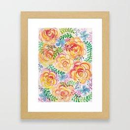 Sunshine and Roses Framed Art Print