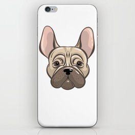 Cute french bulldog muzzle iPhone Skin