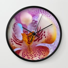 Sweet purplewhite Wall Clock