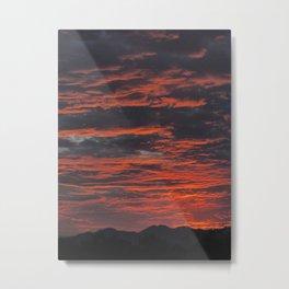 Rippled Sunset Metal Print