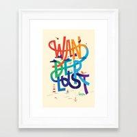 wanderlust Framed Art Prints featuring Wanderlust by Wharton