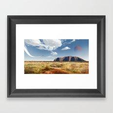 Lone traveler Framed Art Print