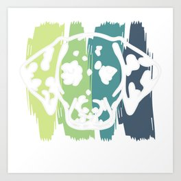 Dalmatian dog gift points pet animal Art Print