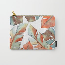 Watercolor Tropical Leaves III Carry-All Pouch
