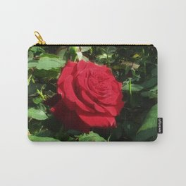Deep Red Rose Carry-All Pouch