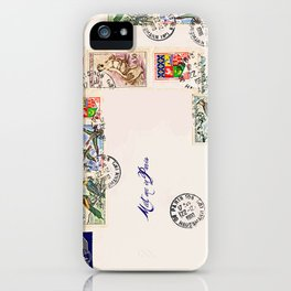 French Postage, meet me in Paris iPhone Case