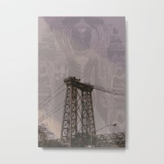 Buddha Bridge Metal Print