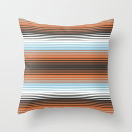 Deconstructed Serape in Multi Throw Pillow