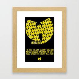 WU TANG CLAN Tribute Framed Art Print