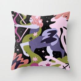 Sagittarius Zodiac Sign Throw Pillow