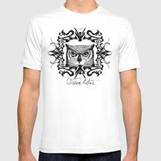Wisdom Listens White MEDIUM Mens Fitted Tee