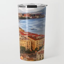 Italy, the gulf of Naples seen from the Posillipo hill Travel Mug