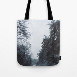 Winter Road Tote Bag