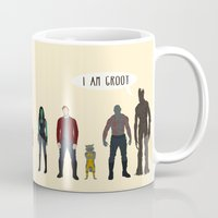 guardians of the galaxy Mugs featuring GUARDIANS OF THE GALAXY by Kaitlin Smith