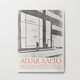 Exhibition poster-Alvar Aalto-Moderna museet. Metal Print