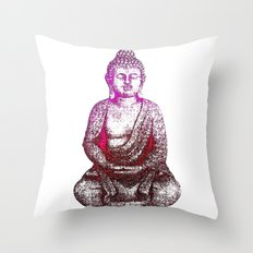 Buddha Red Throw Pillow
