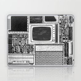 Vhs Tapes and Vinyl Collection with TV Glitch Laptop & iPad Skin