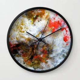 Fireside - Original Abstract Art by Vinn Wong Wall Clock