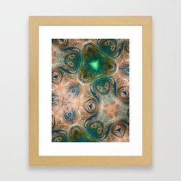Emerald Mountain Framed Art Print