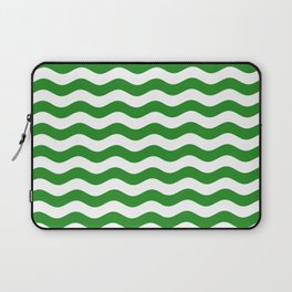 Wavy Stripes (Forest Green/White) Laptop Sleeve