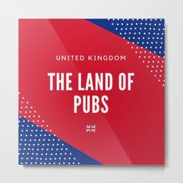 United Kingdom the Land of Pubs Metal Print