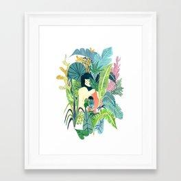 Plant Lover Gal Framed Art Print