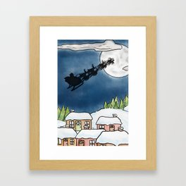 Santa Claus is Coming to Town Framed Art Print